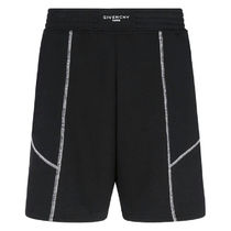 GIVENCHY Street Style Cotton Joggers Shorts