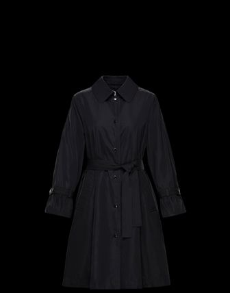 MONCLER Street Style Plain Long Coats