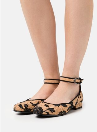 Flower Patterns Casual Style Elegant Style Flats