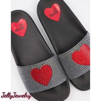 Heart Open Toe Round Toe Casual Style Unisex Blended Fabrics