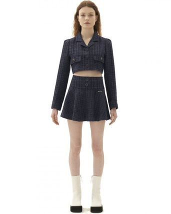 Short Other Plaid Patterns Wool Street Style Logo
