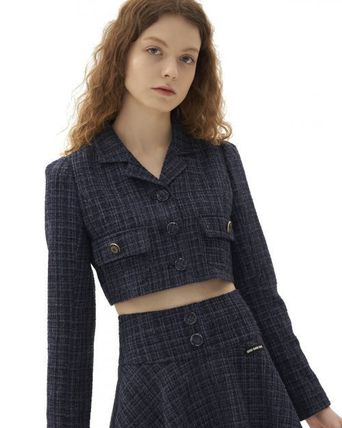 Other Plaid Patterns Casual Style Wool Street Style Logo