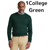 POLO RALPH LAUREN Unisex Long Sleeves Logo Surf Style Sweaters
