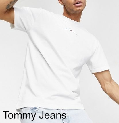 Tommy Hilfiger Crew Neck Pullovers Unisex Street Style Plain Cotton