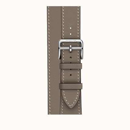 HERMES Casual Style Leather Elegant Style Apple Watch Belt Watches