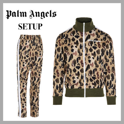 Palm Angels Unisex Street Style Sweats Two-Piece Sets