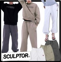 SCULPTOR Casual Style Unisex Street Style Logo Pants