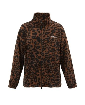 VETEMENTS Short Leopard Patterns Unisex Street Style Logo