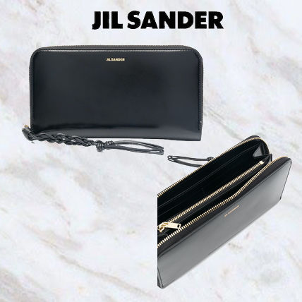 Jil Sander Unisex Plain Logo Long Wallets