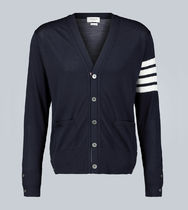 THOM BROWNE Button-down Wool Designers Cardigans