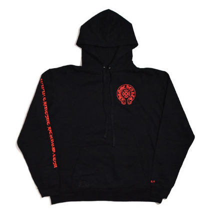 CHROME HEARTS Pullovers Unisex Sweat Street Style Long Sleeves Cotton Logo