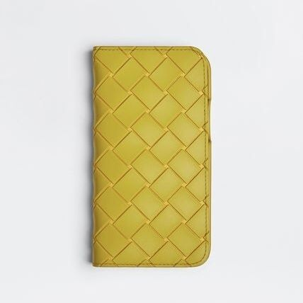 BOTTEGA VENETA Unisex Street Style Leather Smart Phone Cases