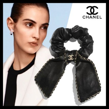 CHANEL Scrunchy Casual Style Blended Fabrics Party Style