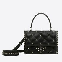 VALENTINO Casual Style 2WAY Leather Party Style Elegant Style