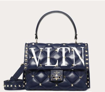 VALENTINO Crossbody Casual Style 2WAY Leather Party Style