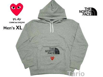 PLAY COMME des GARCONS Hoodies Pullovers Heart Street Style Collaboration Long Sleeves