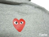 PLAY COMME des GARCONS Hoodies Pullovers Heart Street Style Collaboration Long Sleeves 6