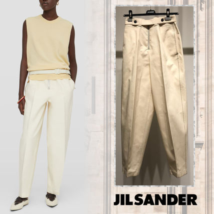 Jil Sander Casual Style Plain Cotton Medium Long Office Style