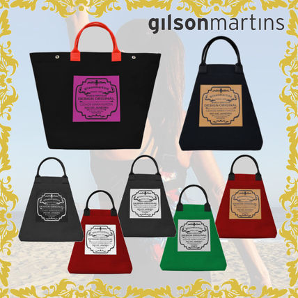 Unisex Plain Logo Shoppers