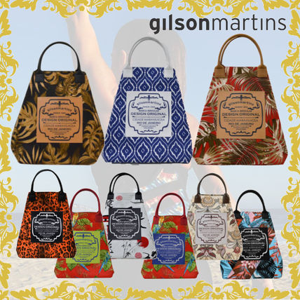 gilsonmartins Shoppers Leopard Patterns Tropical Patterns Unisex A4 2WAY