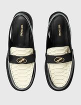 We11Done Round Toe Casual Style Blended Fabrics Bi-color Leather