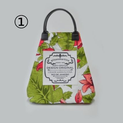 gilsonmartins Shoppers Tropical Patterns Unisex A4 2WAY PVC Clothing Logo Shoppers 2