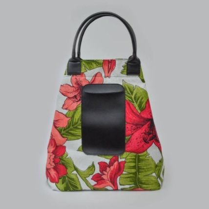 gilsonmartins Shoppers Tropical Patterns Unisex A4 2WAY PVC Clothing Logo Shoppers 3
