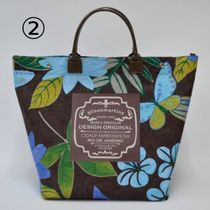 gilsonmartins Shoppers Tropical Patterns Unisex A4 2WAY PVC Clothing Logo Shoppers 4
