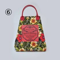 gilsonmartins Shoppers Tropical Patterns Unisex A4 2WAY PVC Clothing Logo Shoppers 9