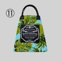 gilsonmartins Shoppers Tropical Patterns Unisex A4 2WAY PVC Clothing Logo Shoppers 14