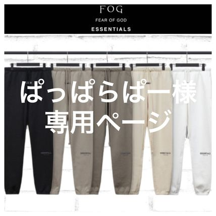 FEAR OF GOD ESSENTIALS Unisex Street Style Plain Cotton Oversized Logo Bottoms