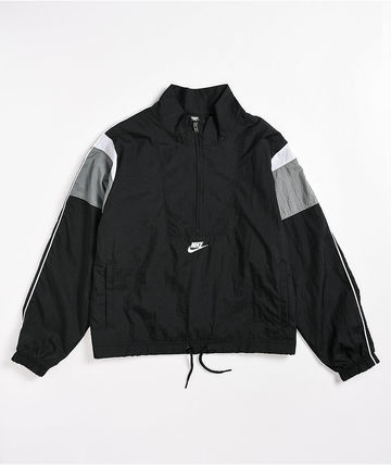 Nike Casual Style Nylon Bi-color Plain Party Style Office Style