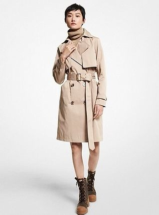 Michael Kors Casual Style Logo Trench Coats