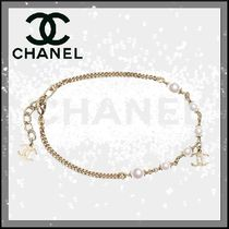 CHANEL Costume Jewelry Casual Style Blended Fabrics Street Style