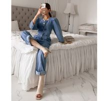 JULL-LOG Dungarees Casual Style Denim Street Style Cropped