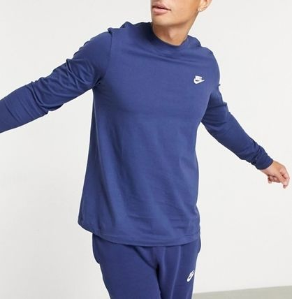 Nike Long Sleeve Crew Neck Pullovers Street Style Long Sleeves Plain Cotton 2