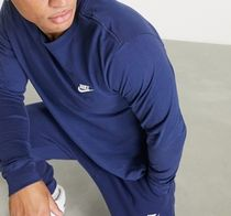 Nike Long Sleeve Crew Neck Pullovers Street Style Long Sleeves Plain Cotton 4