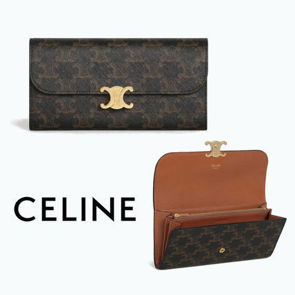 CELINE Triomphe Canvas Long Wallets