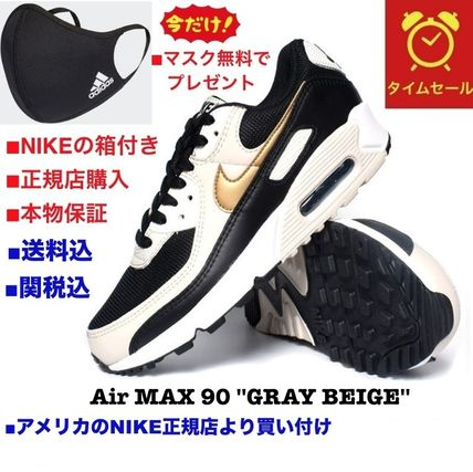 Nike AIR MAX 90 Casual Style Unisex Street Style Plain Logo Low-Top Sneakers