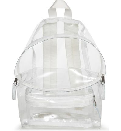 Unisex Street Style Crystal Clear Bags Backpacks