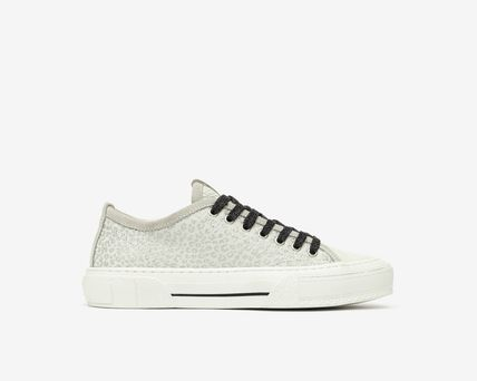 P448 Logo Platform Casual Style Leather Platform & Wedge Sneakers
