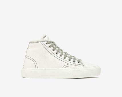 Logo Platform Casual Style Leather Platform & Wedge Sneakers
