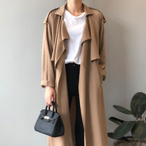 Casual Style Plain Medium Long Formal Style  Trench Coats