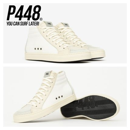P448 Low-Top Casual Style Leather Logo Low-Top Sneakers