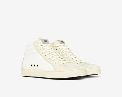 P448 Low-Top Casual Style Leather Logo Low-Top Sneakers 3
