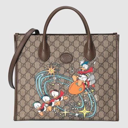 GUCCI GG Supreme Monogram Casual Style Unisex Canvas Blended Fabrics