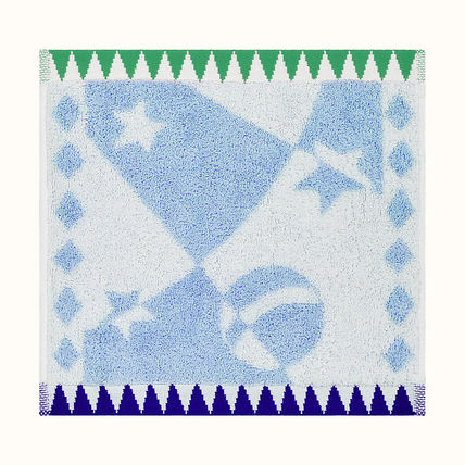 HERMES Unisex Cotton Handkerchief