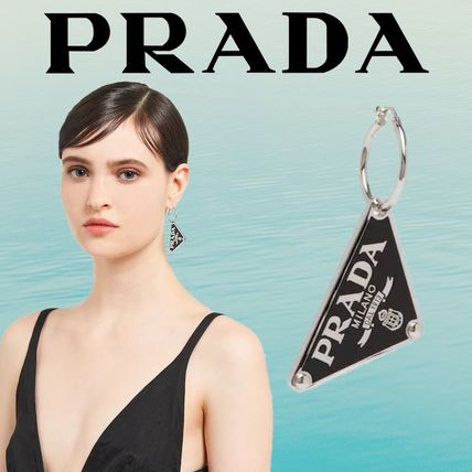 PRADA Casual Style Party Style Silver Elegant Style Fine