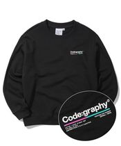 Code graphy Pullovers Unisex Street Style Long Sleeves Cotton Oversized