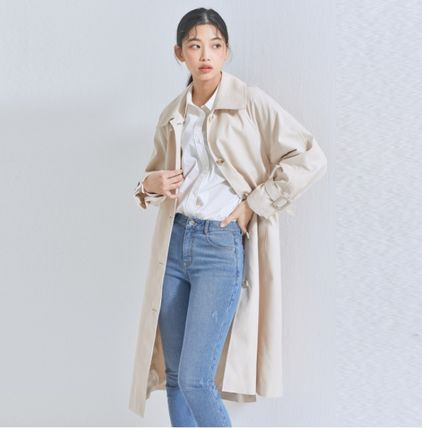 MIXXO Trench Casual Style Plain Long Party Style Office Style Oversized
